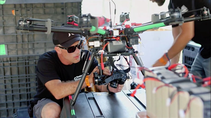 Drone on the Media Crew – Crossfit Games 2015